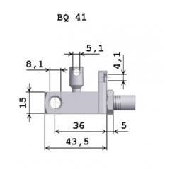 Ovládací hlavice plynové pružiny BQ41