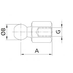 Kulový kloub přímý ADKU M8